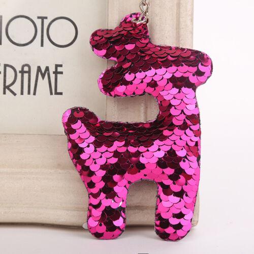 Sequin Keychain Pendentif Étoile Coeur Chat Cochon arbres porte-clés Clé Chaîne Accessoires