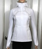 Lululemon Run For Cold Pullover White Sz 6 8 Reflective 1/2 Zip Jacket