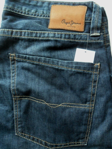 "PEPE Jeans Heston Uomo Regular Fit Straight Leg NUOVO BLU SCURO W30/"" x L30/"""