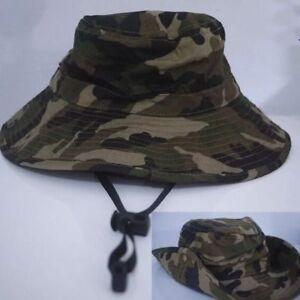 QUALITY Boys Kids Child Camouflage Camo Army Bucket Sun Hat Cap Wide ... 93b01fa59d3a