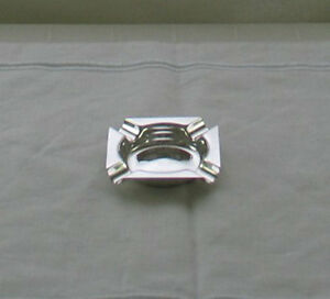 Individual Quality Silver Plate Ash Tray, Square