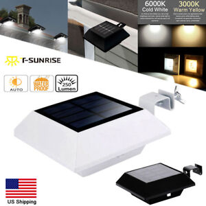 Solar-Power-Outdoor-Garden-Light-Wall-Roof-Path-Gutter-Fence-Security-LED-Lamp