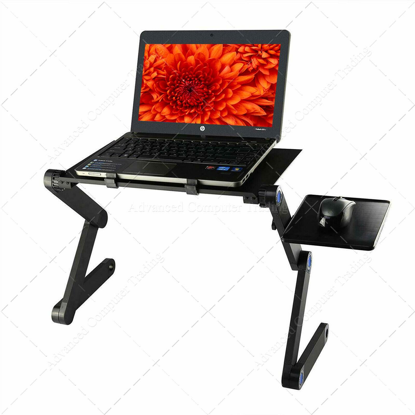 Mesa para Ordenador, Base Ajustable y Plegable para Laptop Soporte ratón