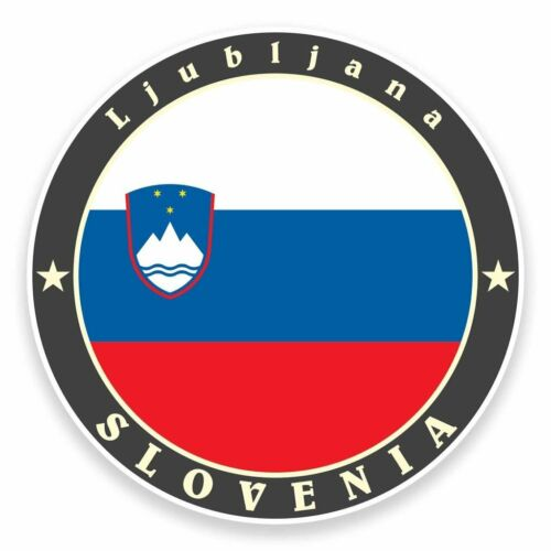 2 X Pegatina de vinilo bandera Eslovenia Coche Viaje Equipaje #9525