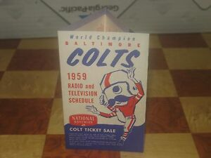 1959-Baltimore-Colts-National-Beer-Natty-Boh-Schedule-Excellent-Condition