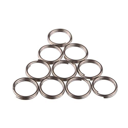 TI-EDC 10pcs Titanium Small Split Rings 12mm
