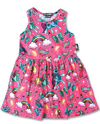 Six Bunnies Girls Alternative Tattoo Unicorn Rainbow Dress Punk Rock 2 3 4 5 6
