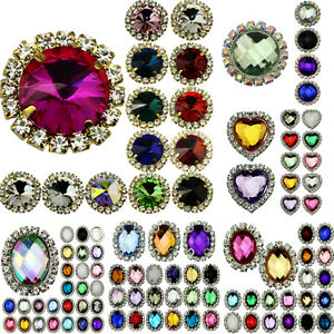 10pcs Crystal Rhinestone Button Flatback Wedding Invitation Embellishment Sewing