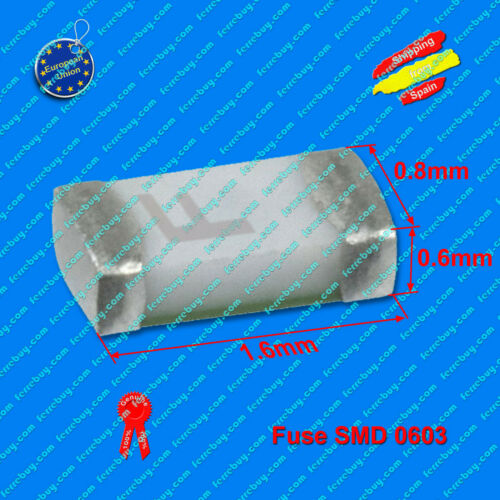 Fuse SMD 0603 250mA 0.25A to 8A fusible SMD 0603 2Pz