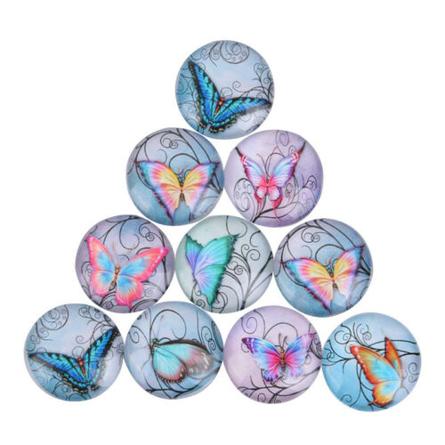 50Pcs//Lots Mixed Butterfly Glass Cabochon Flatback Spacers DIY Making FindingsZJ