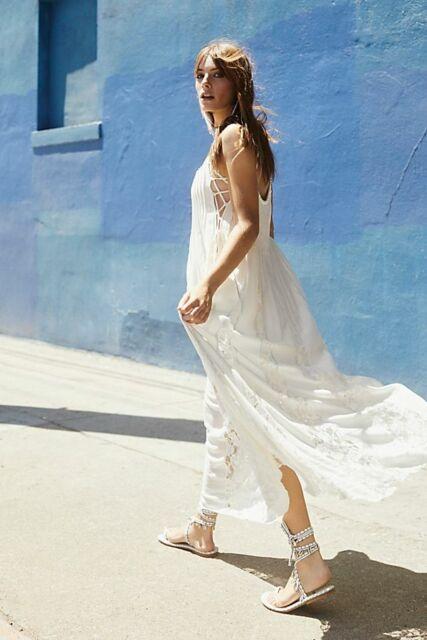 NEW $168 Free People One Love Boho Prairie Maxi Dress Size XS S M L