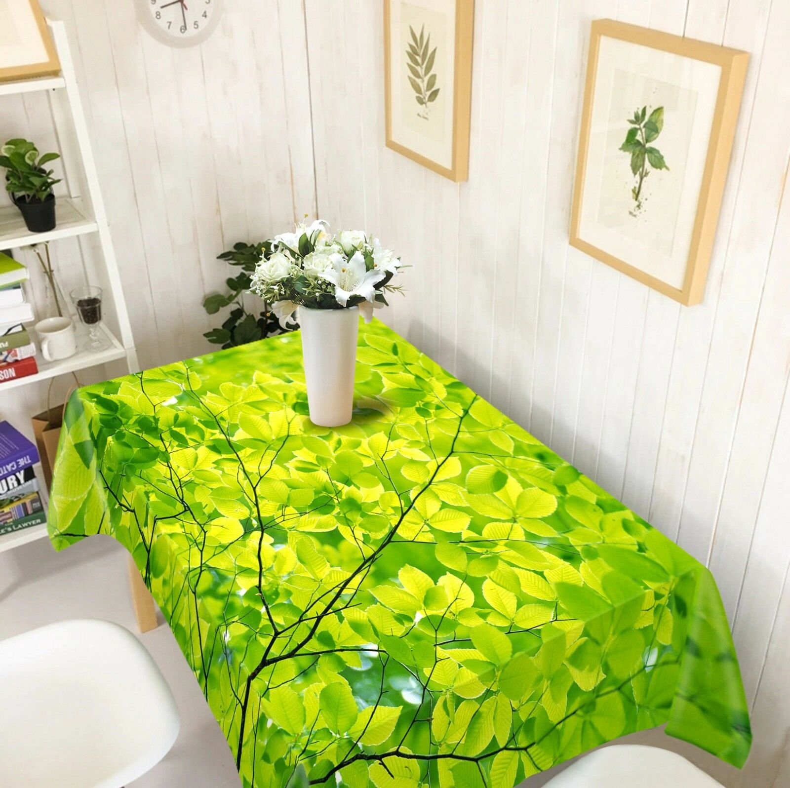 3D vert Leaves 233 Tablecloth Table Cover Cloth Birthday Party Event AJ Summer