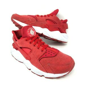 Details about Nike Air Huarache Mens Size 8 University Red White Custom  NikeID 77300-993