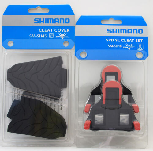 Shimano Road SPD-SL Pedal SM-SH10 Fix Mode Shoe Cleats /& SM-SH45 Cover Set