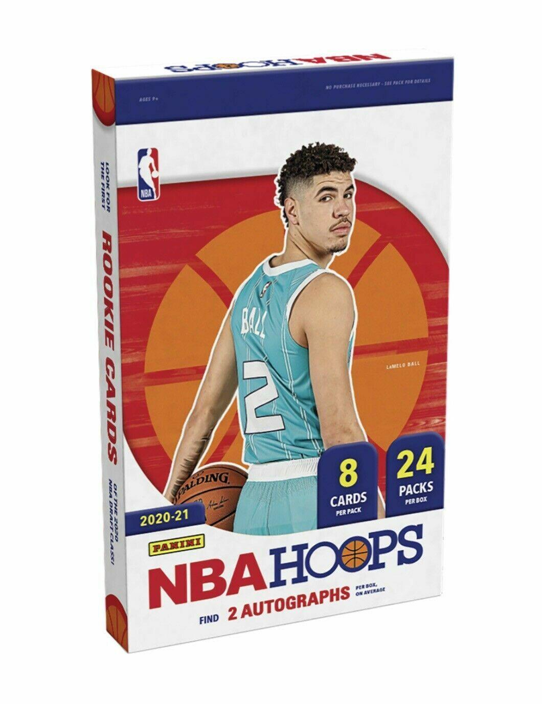 Image 1 - 2021-Panini-NBA-Hoops-Basketball-Hobby-Packs-Sealed-Lot-of-4