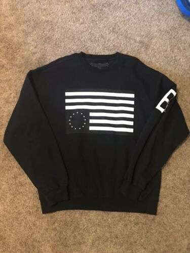 Black Scale Crew Neck Sweatshirt Big b Black Flag