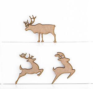 IN-LEGNO-MDF-Natale-Renna-forme-spessore-3mm-ABBELLIMENTI-DECORAZIONI-ALBERO