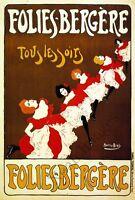 Folies Bergere Vintage Theatre Poster Repro 24x36