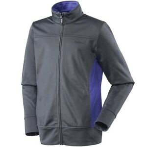 Details zu Youth Girls Reebok Tricot Blocked Fleece Jacket Full Zip Ebony Haze Grey Size XS