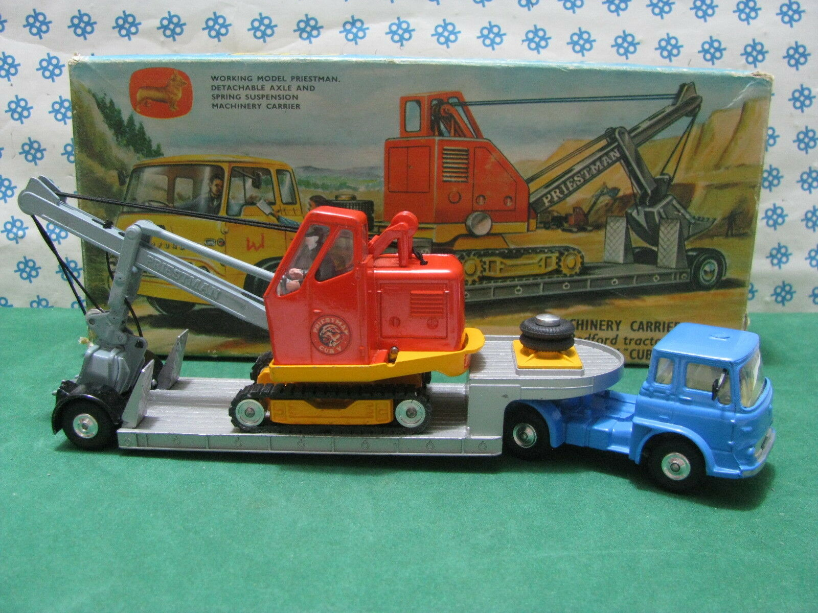 Vintage Bedford tractor unit and Priestman cub Shovel-corgi toys GS 27