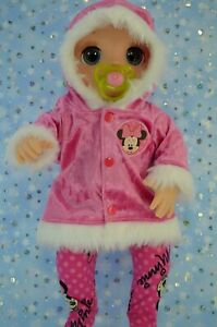 Dolls-Clothes-For-17-034-Baby-Alive-Real-As-Can-Be-HOT-PINK-VELVET-JACKET-TIGHTS