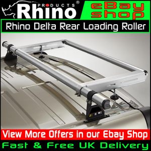 L2-MWB H2-H3 Rear Roller Ford Transit Rhino Delta Roof Rack Bars Mk8 2014-2019