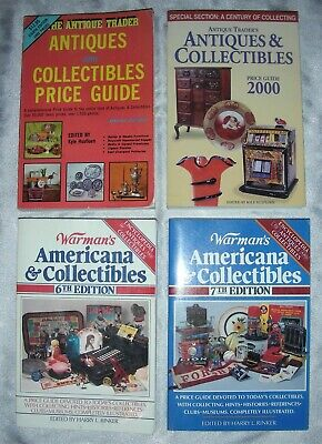 Lot Of 4 Antiques Collectibles Price List Books Warman S And Antique Trader Ebay