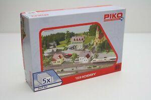 Piko-61925-Dorf-Set-5-teilig-in-H0-Bausatz-Fabrikneu