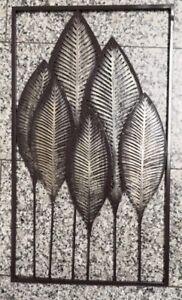 Super XL Wanddeko Wandbild Bild Blätter Metall Silhouetten Wand-Deko 3D VX98