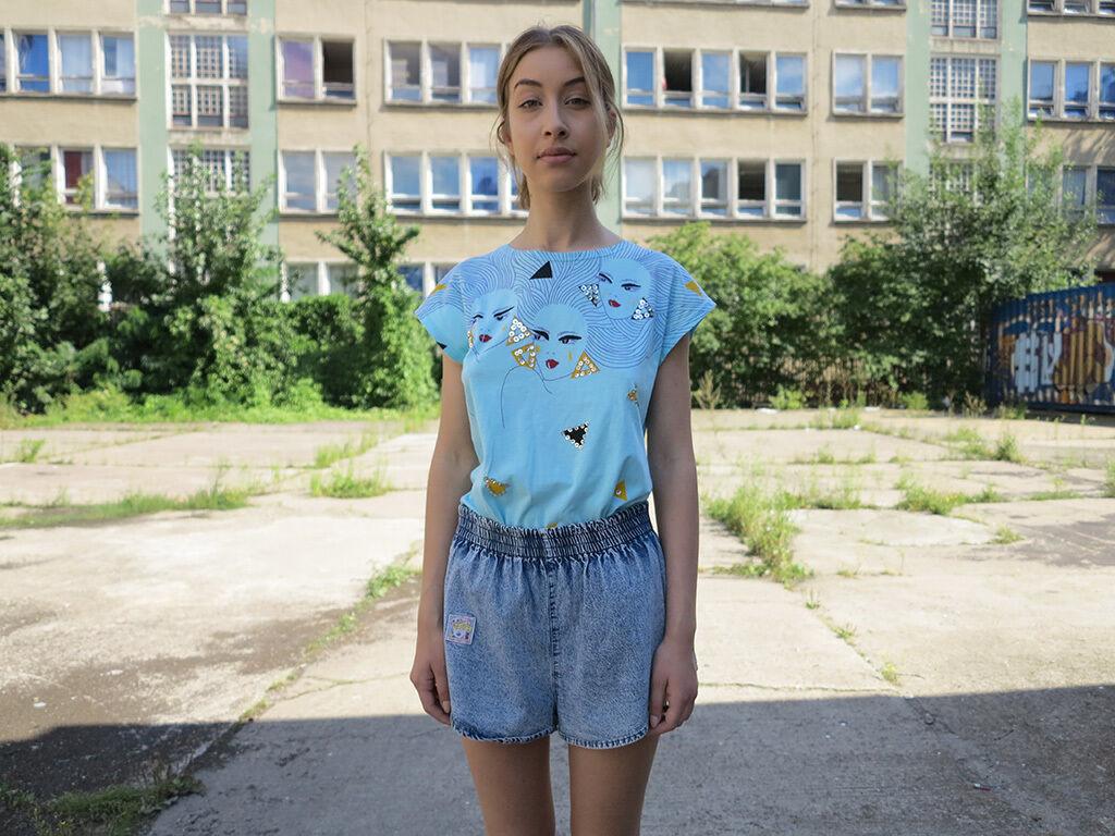 Chain Jeans Shorts blue hotpants 90er TRUE VINTAGE 90s short jeans trousers bluee