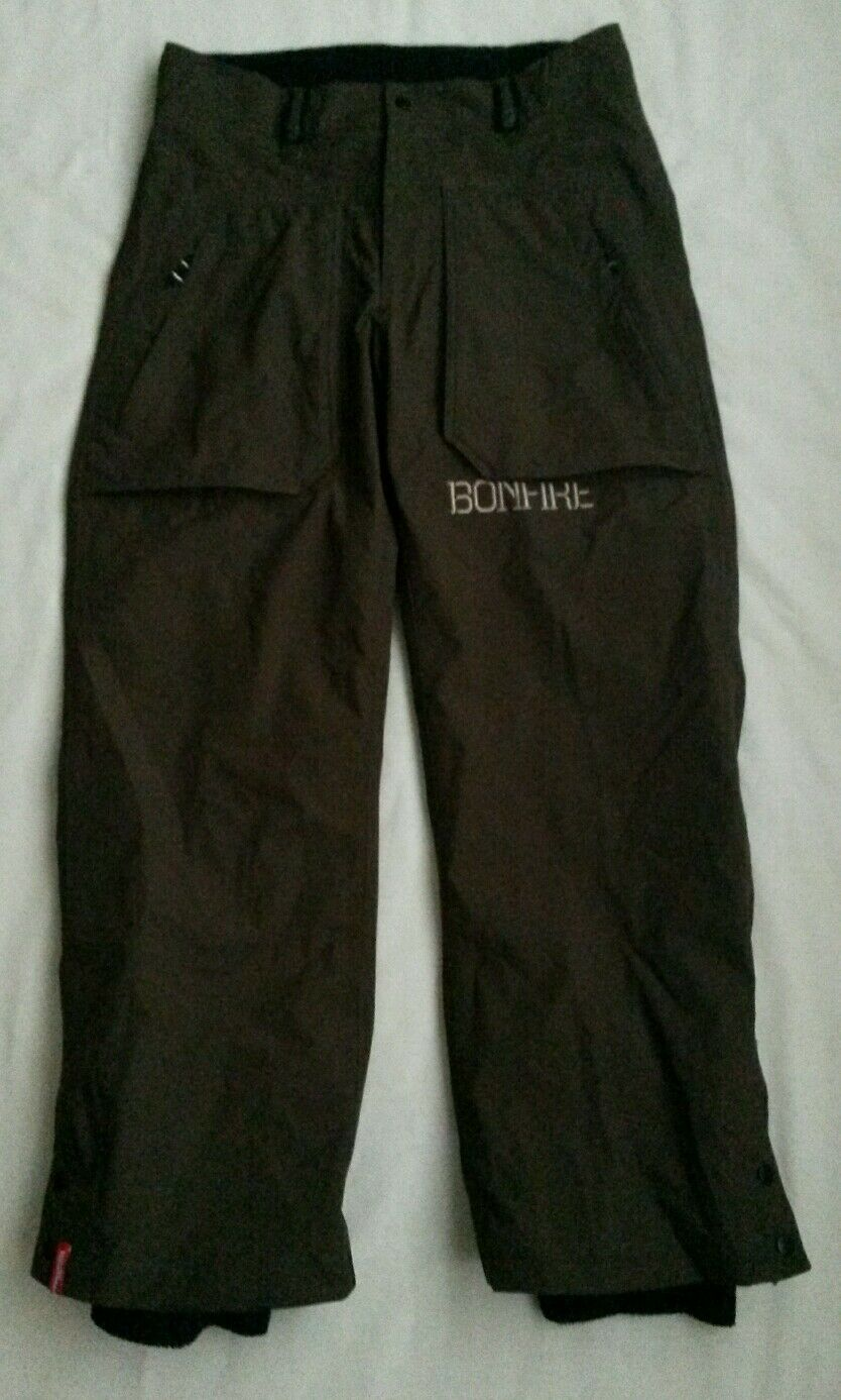 NWOT,BONFIRE PARTICLE ski snowboard pants,waterproof,taped seams,men M 35 x31