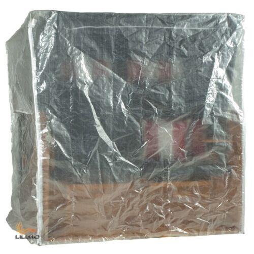 Abdeckhaube Basic für 3-sitzer Strandkorb bis 155 cm transparent Size XL
