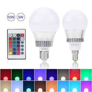 E14-E27-5W-10W-RGB-Color-Changing-Lamp-LED-Globe-Light-Bulb-IR-Remote-Controller