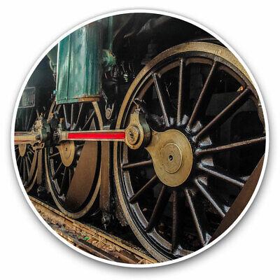 2 x Vinyl Stickers 10cm Locomotive Train Footplate Cool Gift #2183