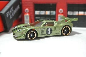 Image Is Loading Hot Wheels Loose Ford Gt Lm Green