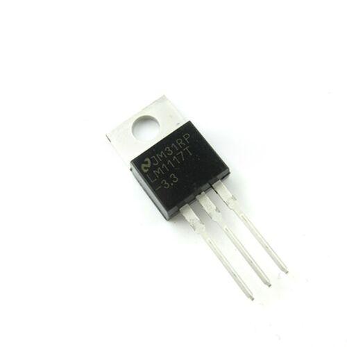 50 un Lm1117 Lm1117t-3.3 NSC Ic Reg verdaderas 3.3 v 0,8 A To220 Nuevo