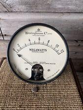 Vintage Westinghouse Electrical Megawatt Meter Steampunk Gauge