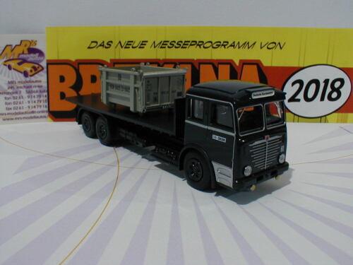 """Büssing 12000 grau /"""" Deutsche Bundesbahn /"""" m Ladegut 1:87 NEU Brekina 74615"""