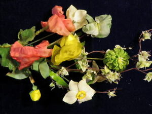 Vintage-Millinery-Flower-Shabby-Collection-Green-Yellow-Pink-1-3-1-2-034-H1062
