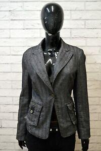 Giacca-Donna-LIU-JO-Taglia-M-S-Maglia-Coat-Jacket-Blazer-Lana-Grigio-Wool-Woman