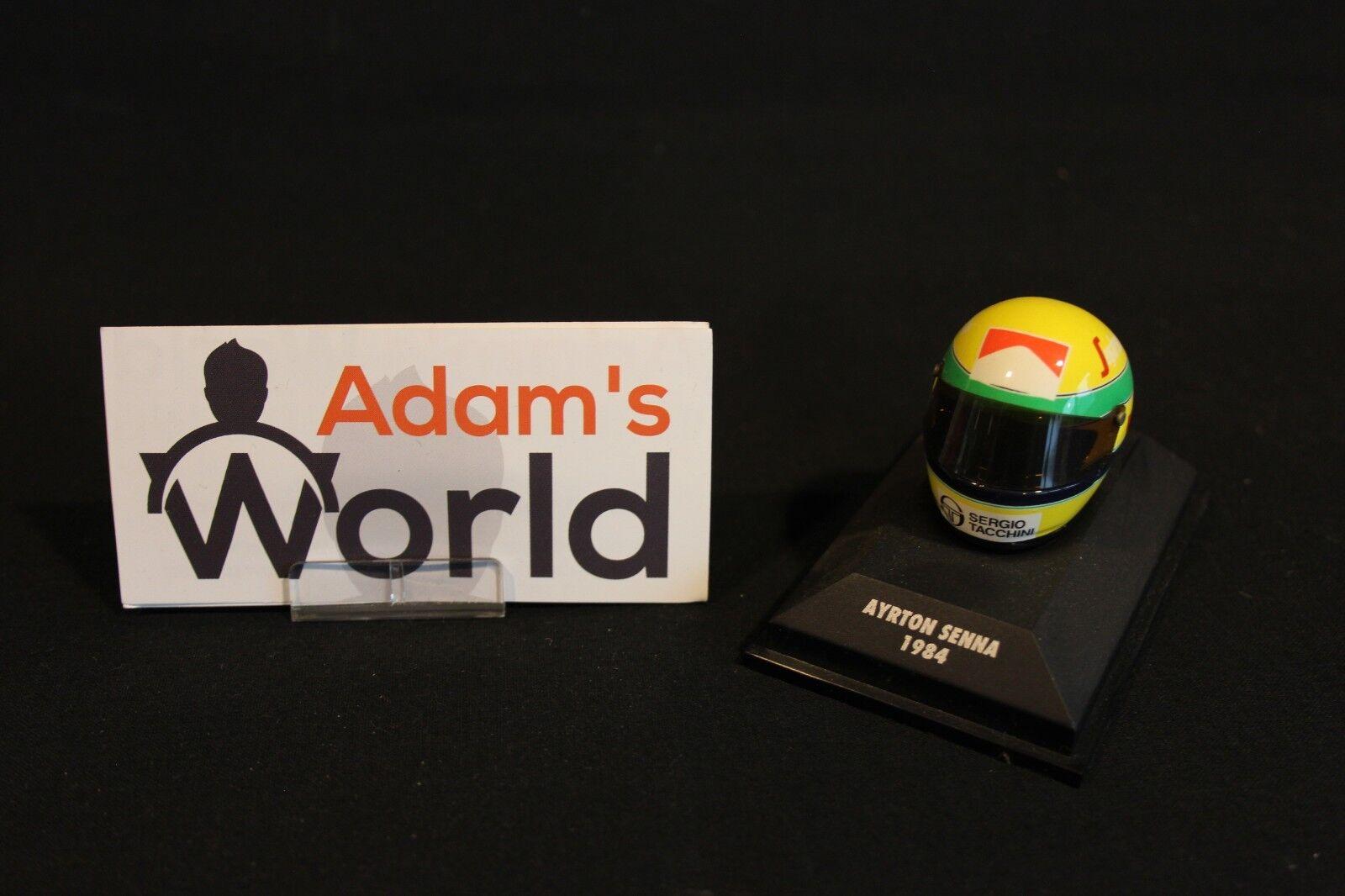 Minichamps Helmet Ayrton Senna (BRA) 1984 1 8 Toleman F1 (MM1)