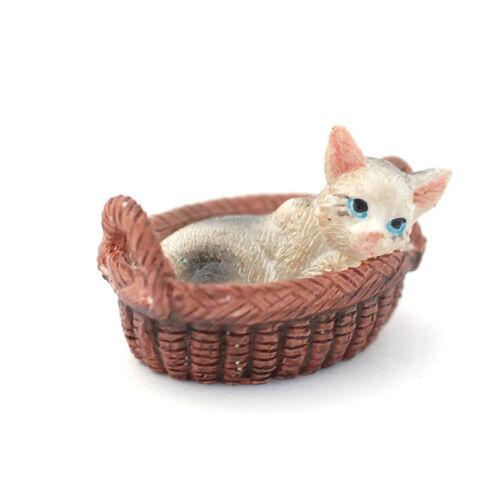 Dolls House 7335 Katze im Körbchen (PR) 1:12  für Puppenhaus NEU!  #