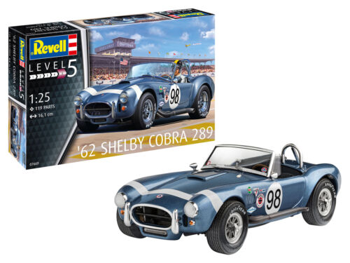 62 Shelby Cobra 289 Level 5 1:25 Revell Model Kit