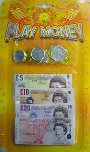Toy Play Money Sets Great Educational Toy Free UK Postage Notes and Coins