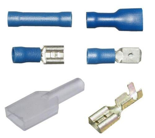 Terminales Azul aislado no bala Macho Hembra de horquilla 6.3mm Cableado Eléctrico