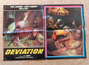 Deviation, Italian Photobusta, Folded, 1976, Italian First Edition, Sibyla Grey - España - Deviation, Italian Photobusta, Folded, 1976, Italian First Edition, Sibyla Grey - España