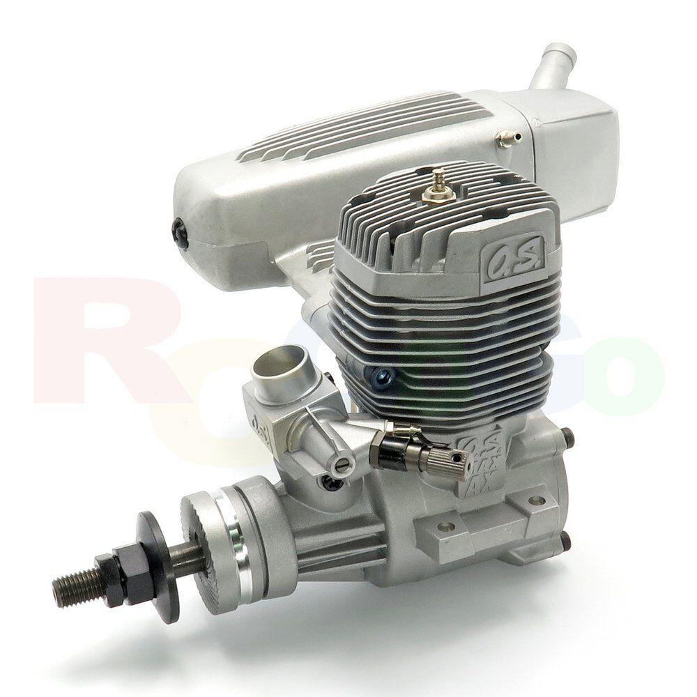 O.S. max-95ax Glow/Nitro RC Aereo Motore con e-4040 SILENCER   os19120