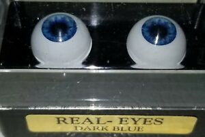 "18mm Dark Blue Round ""Real Eyes"" Made In USA"