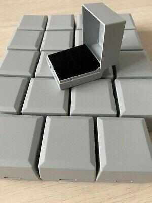 WHOLESALE JOBLOT 100 BLACK RING BOXES JEWELLERY GIFT BOXES HINGED PACKAGING
