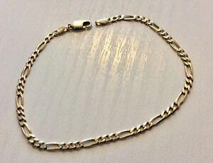 Pretty-Ladies-Hallmarked-9-Carat-Gold-Figaro-Bracelet-9CT